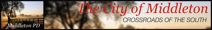 City of Middleton Police Department page header