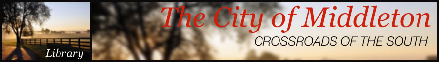 City of Middleton Community Library page header